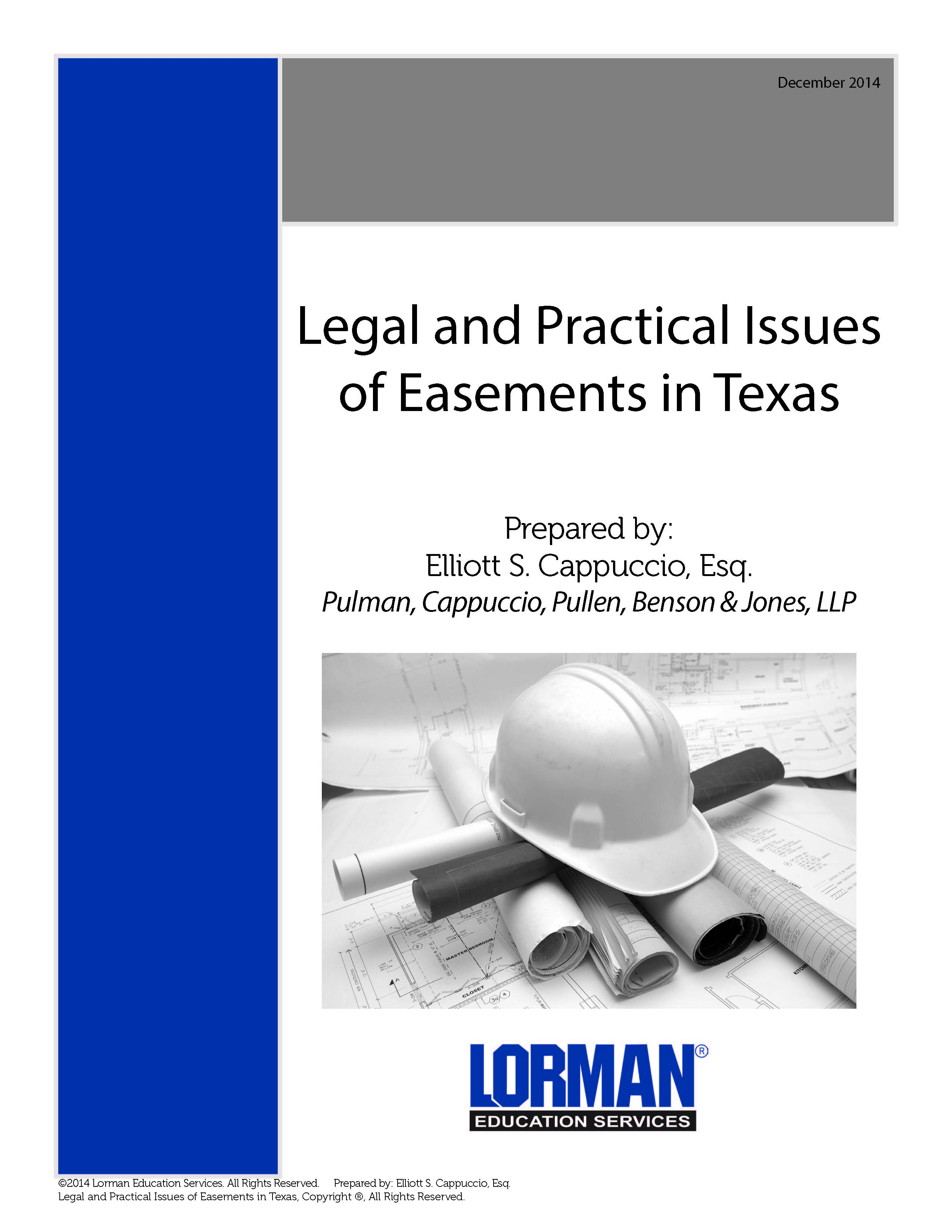 Legal and Practical Issues of Easements in Texas