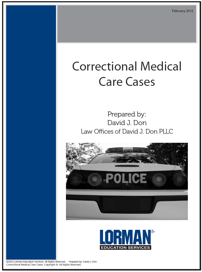 Correctional Medical Care Cases